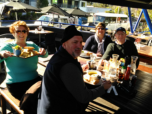 Lunch with friends at The Landing in Franz Josef. Great food.