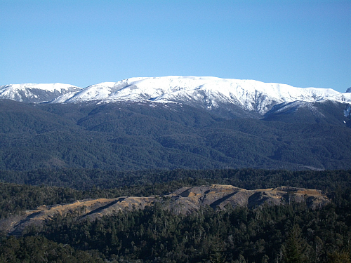 The view from the Hope Saddle between Nelson and Murchison