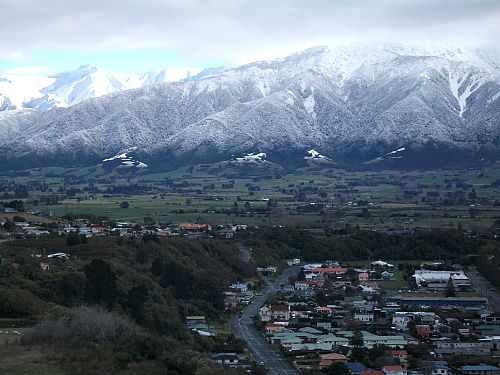 The stunning Kaikoura countryside on a cool winter's day