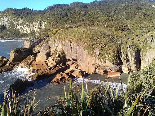 The stunning Punakaiki coastline