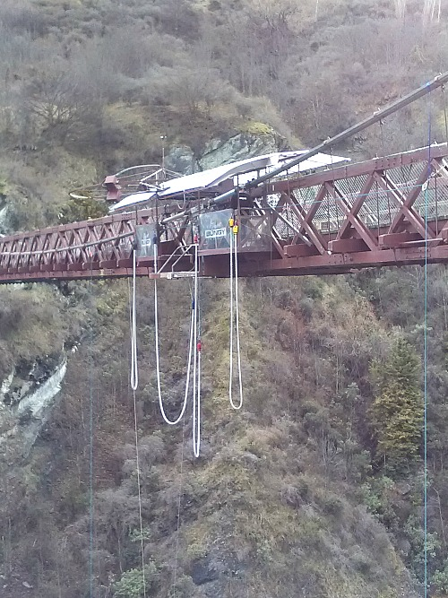 The old Kawarau Gorge bridge near Queenstown, home of AJ Hackett bungy.
