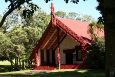Maori meeting house in the Bay of Islands