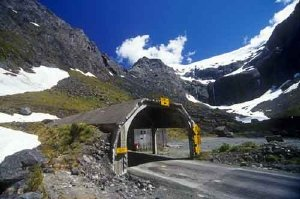The eastern entrance to the Homer Tunnel