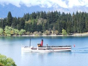 The historic steamship TSS Earnslaw on Lake Wakatipu, Queenstown