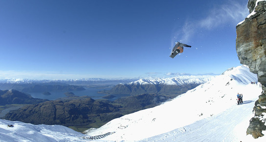 Vertical fun on the South Island - picture courtesy Haka Tours