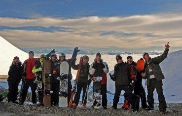 Haka Tours snow boarders