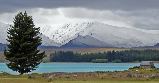 Lake Tekapo and the Church of The Good Shepherd