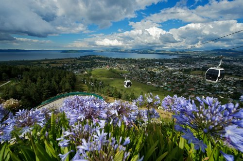 Amazing views over Rotorua from the Skyline Gondola