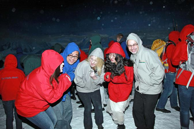 Yep, it's cold in there! The wind chill experience at the Christchurch International Antarctic Centre