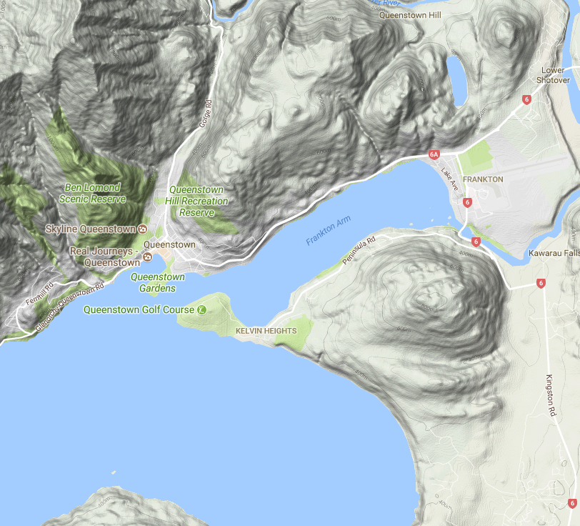 Map of Queenstown Image Copyright Google 2017