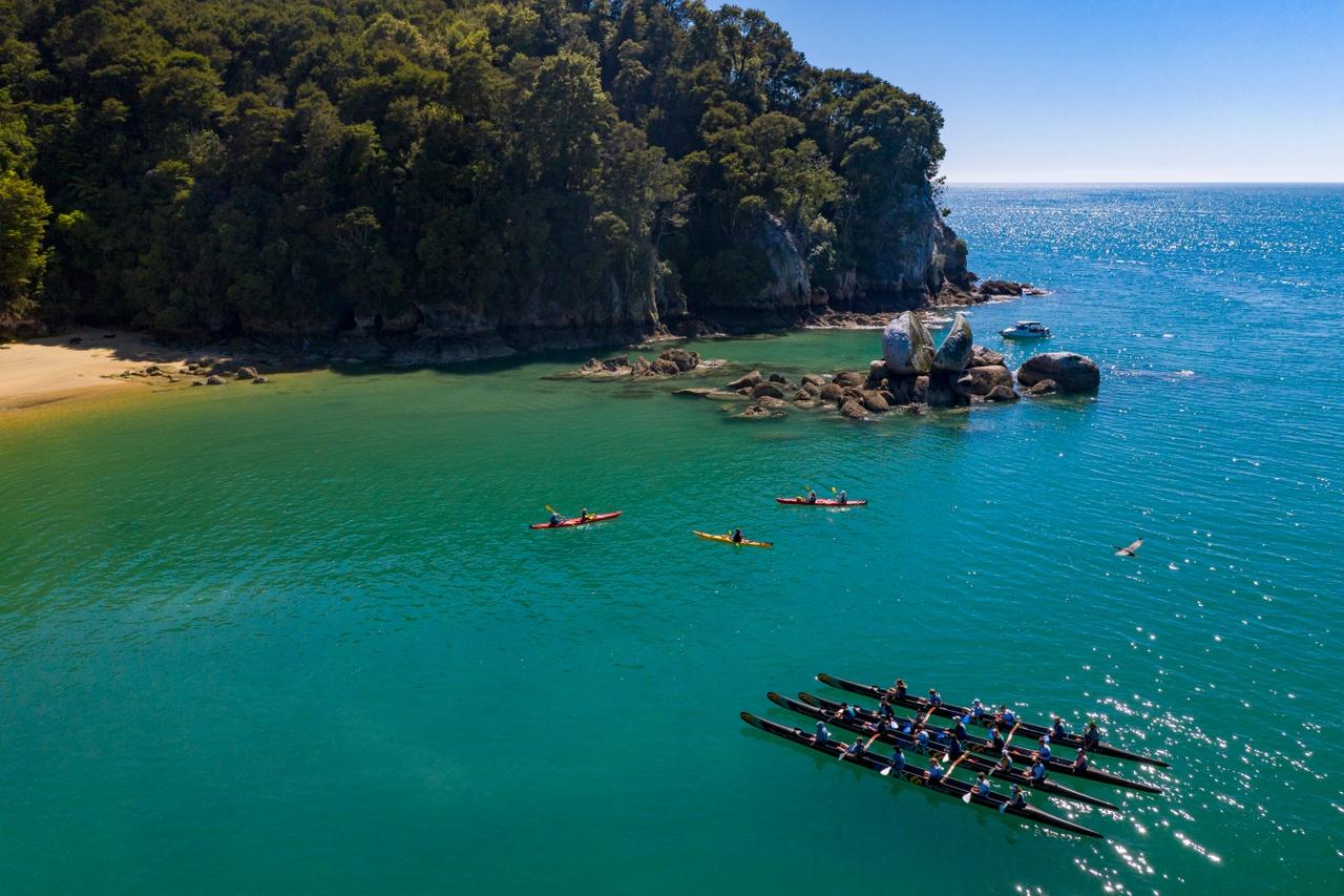 Activity Around Split Apple Rock in the Abel Tasman National Park - pic courtesy www.nelsontasman.nz