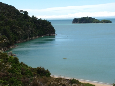 Golden beaches and clear waters in the Abel Tasman
