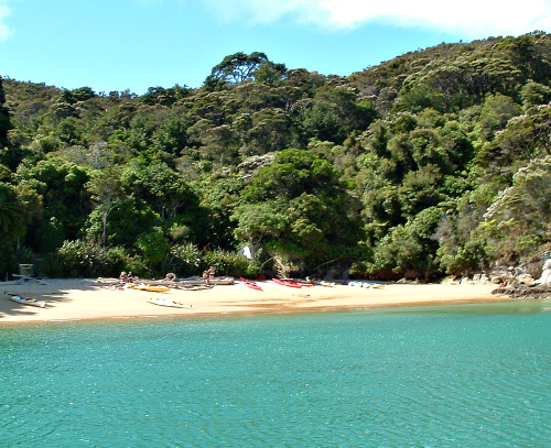 One of the beautiful beaches in the Abel Tasman