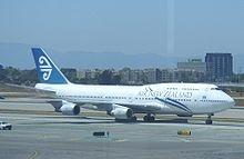 An Air New Zealand 747 at LA