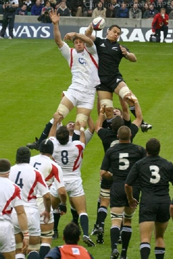 The All Blacks playing Englan