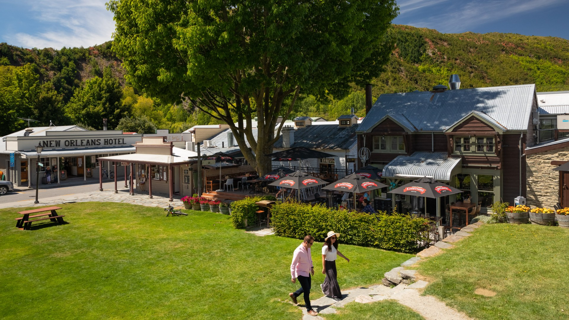 Arrowtown. Buckingham Green and Bendix Stables. Image courtesy Arrowtown Promotion and Business Association