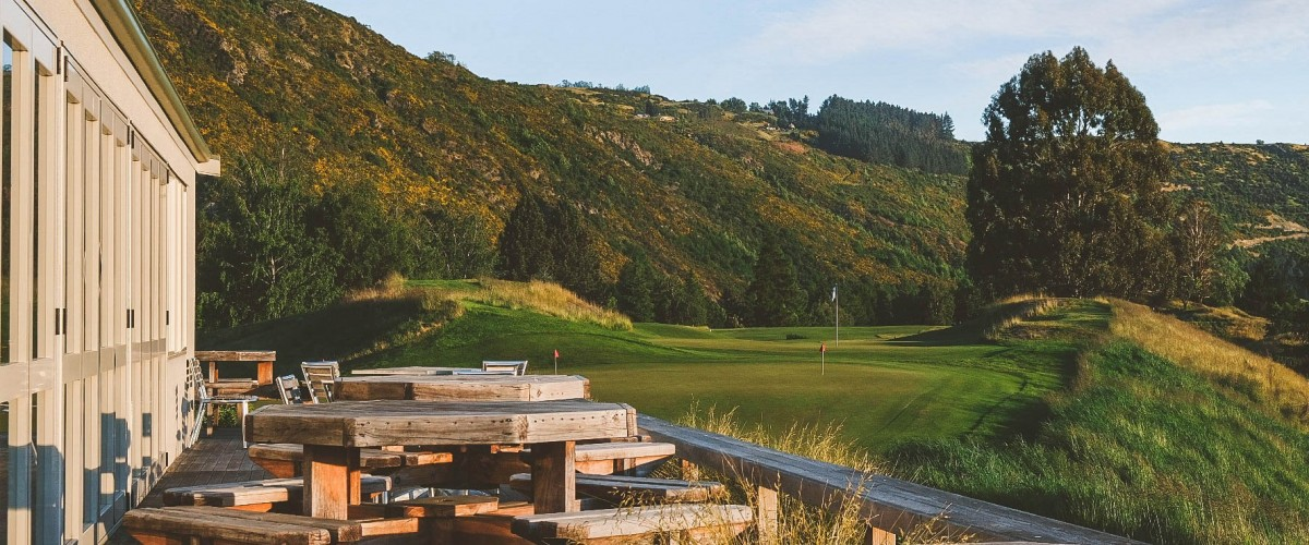 Arrowtown Golf Course and clubhouse. Pic courtesy AGC