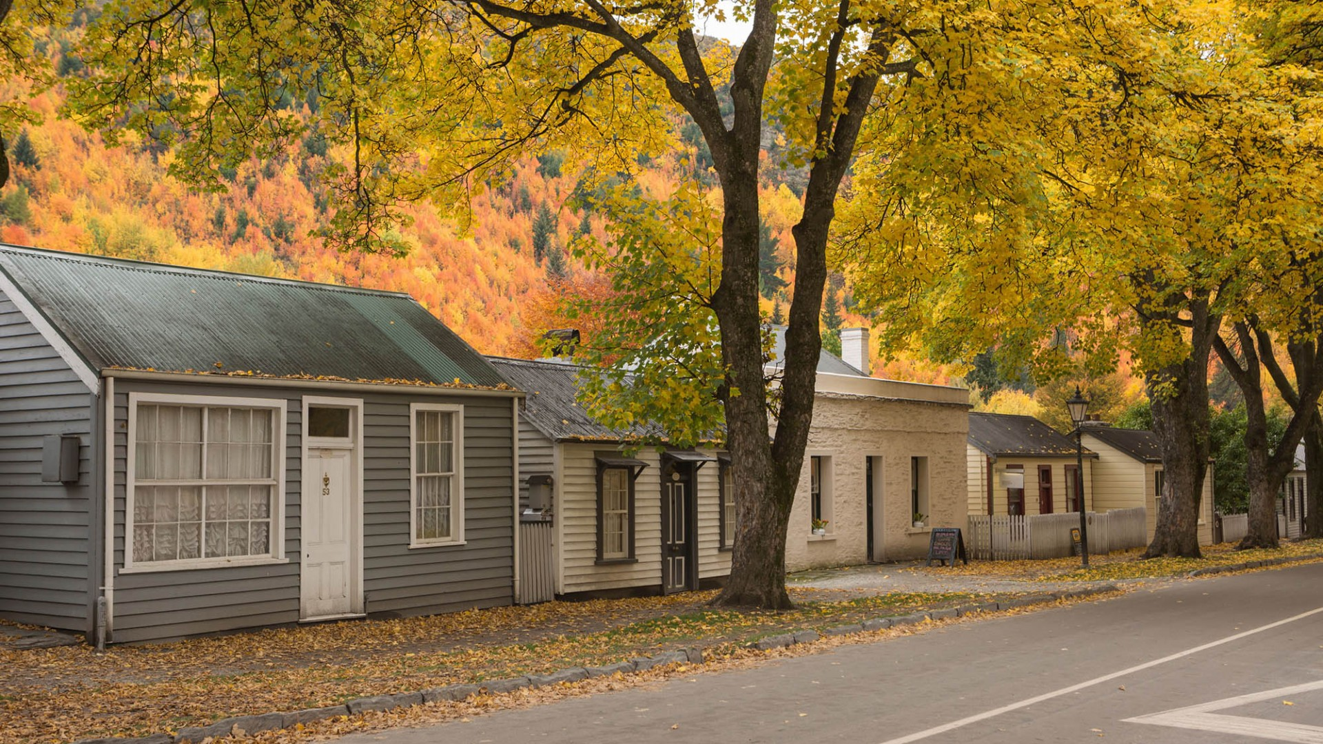 Arrowtown Miners Cottages In Autumn. Pic courtesy Arrowtown Promotion and Business Association