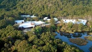 The beautiful Awaroa Lodge