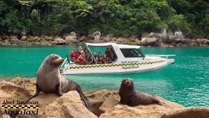 Abel Tasman Aqua Taxi and some friendly locals
