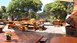 Dining with nature at Awaroa Lodge