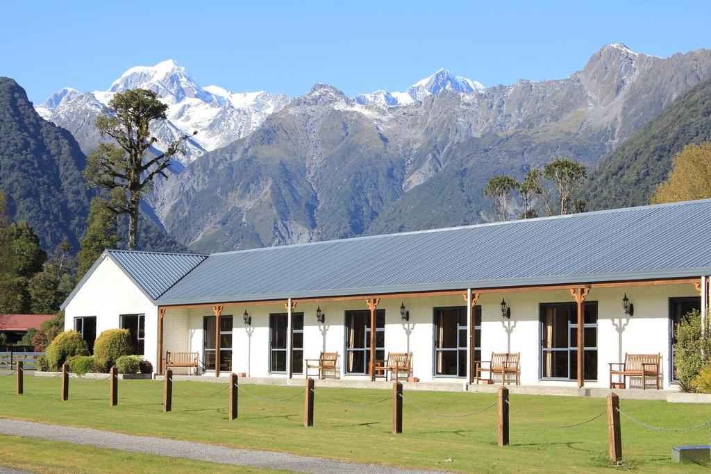 What a setting! The Mt Cook View Motel at Fox Glacier