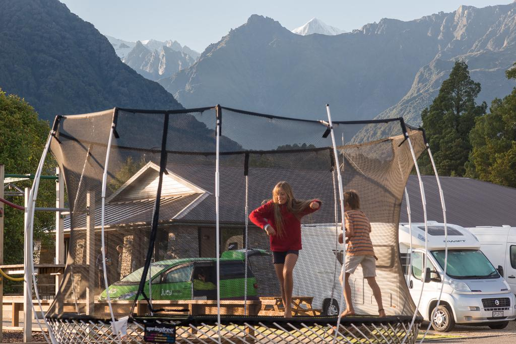 Family fun at Fox Glacier Top 10 Holiday Park