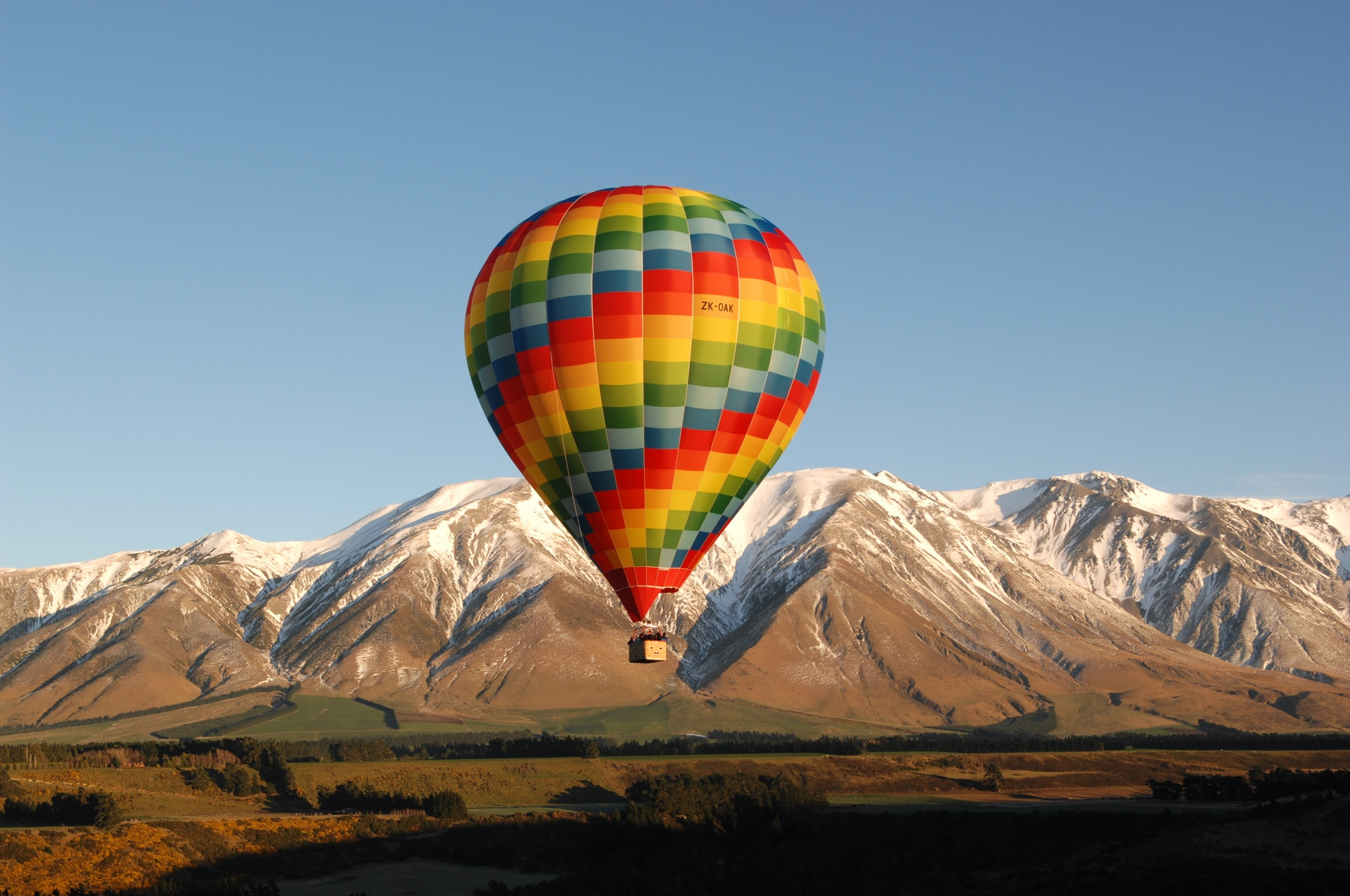 Ballooning on the Canterbury Plains near Christchurch. Picture courtesy TNZ