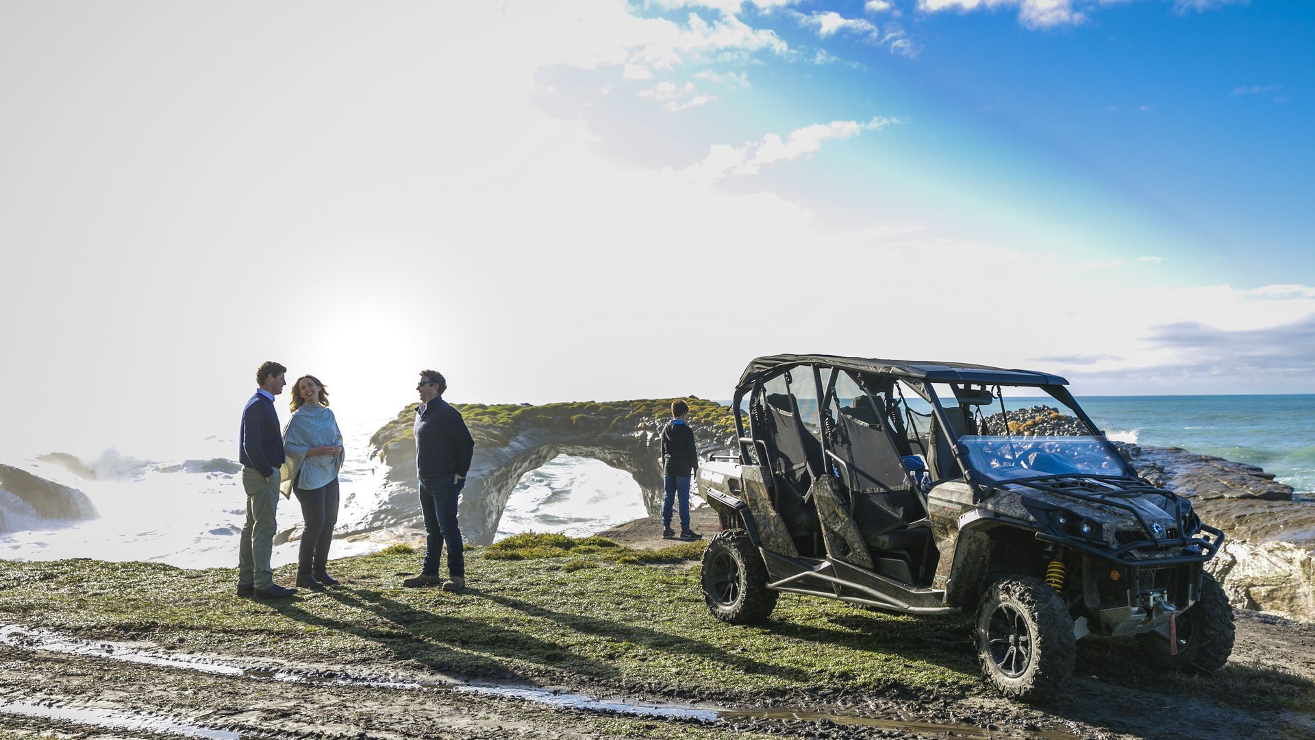 4WD experience at Cape Kidnappers - pic courtesy Robertson Lodges