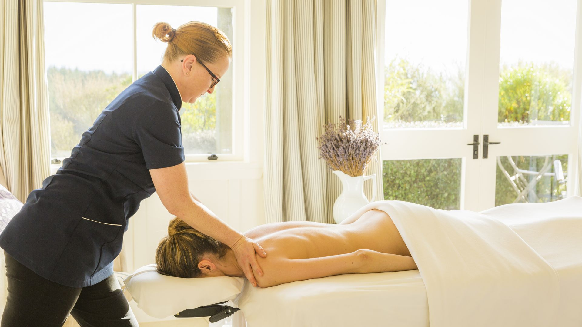Relaxing spa treatment at Cape Kidnappers - pic courtesy Robertson Lodges