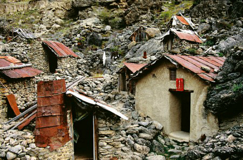 Old chinese village at Goldfields Mining Centre Central Otago