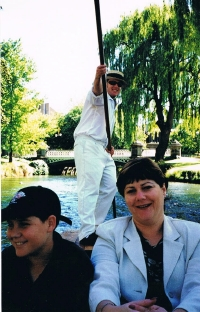 Kim and Tim punting on the Avon River way back in 1998