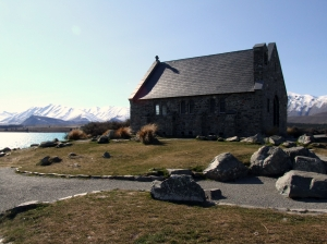 The much photographed Church of the Good Shepherd at Lake Tekapo