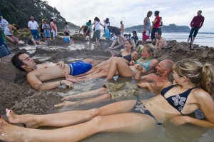 Relax in your own hot water bath at Hot Water Beach in the Coromandels - image courtesy Tourism Coromandel