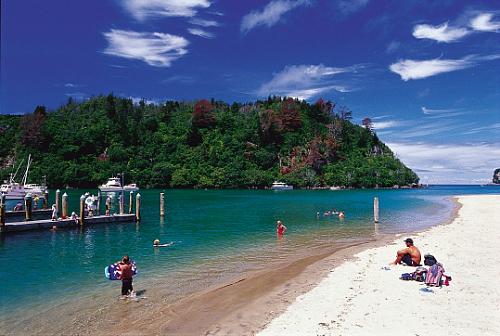 The pretty Whangamata Harbour, in the Coromandel New Zealand, picture courtesy Tourism Coromandel