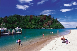 The pretty Whangamata Harbour picture courtesy Tourism Coromandel