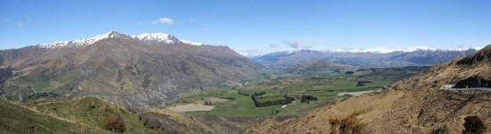 Looking towards Queenstown from the Crown Range