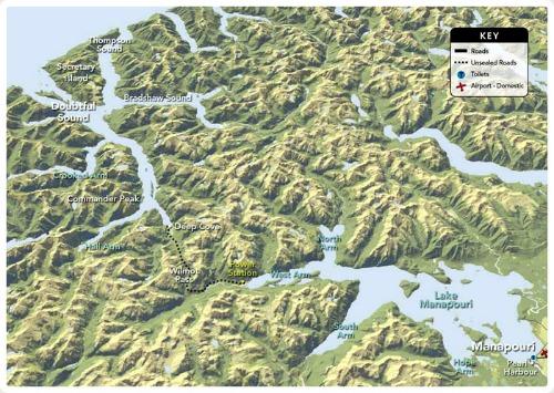 Doubtful Sound Map Courtesy Fiordland.org.nz