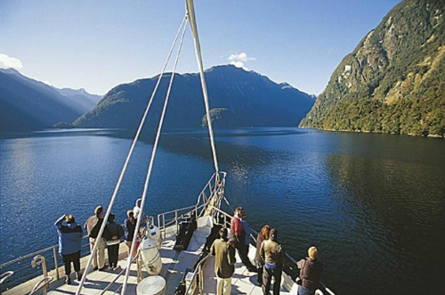 Imagine waking up on the clear, calm waters of Doubtful Sound!