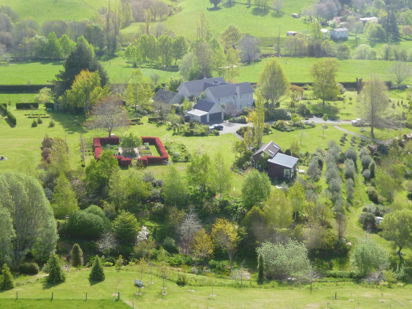 Aerial view of Edenhouse - pic courtesy Edenhouse