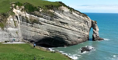 Wow! Cape Farewell - pic courtesy Farewell Spit Eco Tours