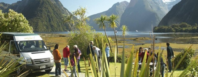 Fiordland Lodge guests at Milford Sound - pic courtesy Fiordland Lodge