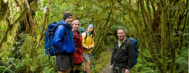 Hiking in Fiordland - pic courtesy Fiordland Lodge