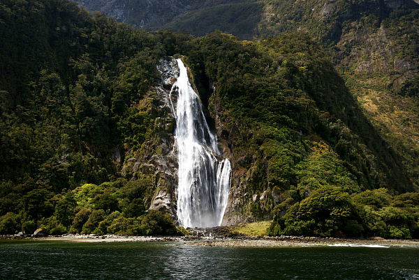 Fiordland waterfall
