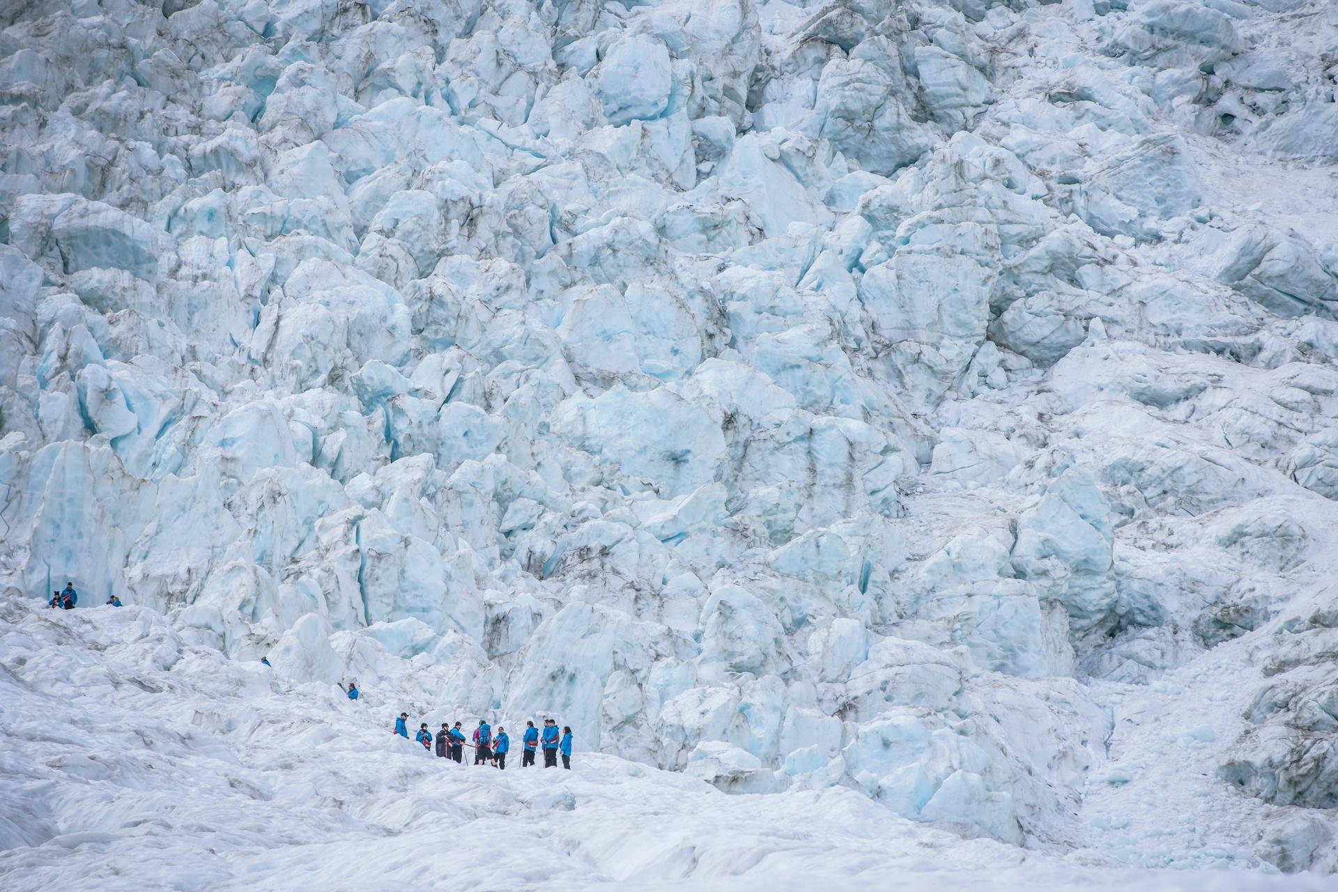 The imposing Franz Josef Glacier. Image courtesy TNZ and Miles Holden