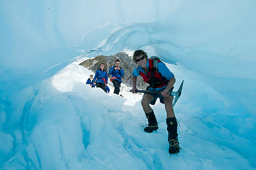 Walk through an ice cave at Franz Josef Glacier - pic courtesy westcoast.co.nz