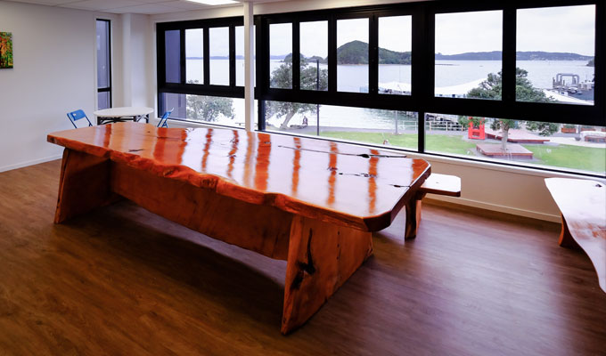 The dining room at Haka Lodge Paihia