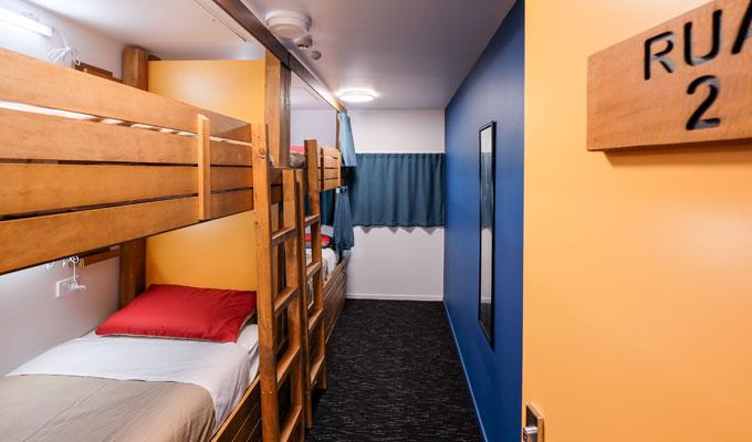 Modern, clean dorm room at Haka Lodge Paihia