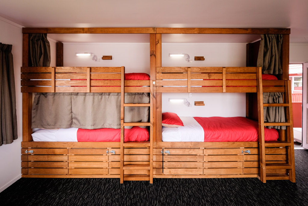 One of the classy dorm rooms at Haka Lodge Taupo