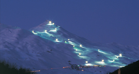 Night skiing at Coronet Peak - picture courtesy Haka Tours